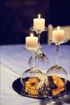 "Lovely centrepiece idea! Photo from ""Easy Weddings"""