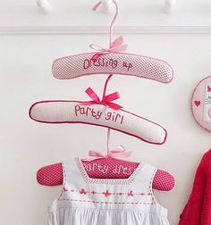 embroidered children's coat hanger by the letteroom | notonthehighstreet.com