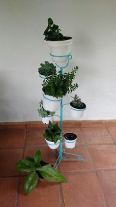 Outside decor. Plant holder