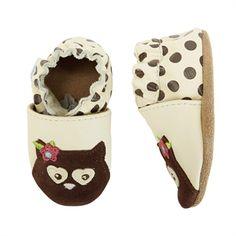 Robeez® Girls Crib/1st Walker 3D Owl Soft Sole Shoe
