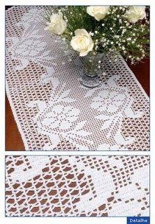 Receitas de Crochet: Caminho de mesa
