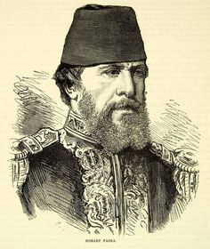1883 Wood Engraving Portrait Hobart Pasha Admiral Ottoman Empire British XEGA3 - Period Paper