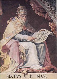 Pope Sixtus V - Wikipedia, the free encyclopedia