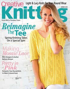 """Photo from album """"Creative Knitting - Spring on Yandex. Knitting Books, Crochet Books, Knit Crochet, Knitting Magazine, Crochet Magazine, Knitting Designs, Knitting Patterns, Creative Knitting, Slip Stitch"""