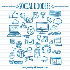 More than a million free vectors, PSD, photos and free icons. Exclusive freebies and all graphic resources that you need for your projects Bullet Journal Ideas Pages, My Journal, Infographic Tools, Doodle Images, Mental Map, Doodle Characters, Doodle Art Drawing, Kawaii Doodles, Cute Notebooks