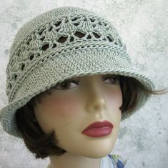 Crochet Hat Pattern Women s Summer Brimmed Hat With Mesh Band Instant  Download Virkade Mössor 035db8e83ade7