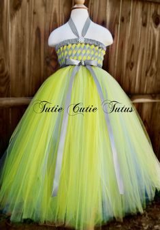 Flower Girl Woven Tutu Dress in Silver and by TutieCutieTutus, $68.00