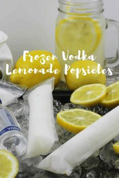 Popsicles are not just for kids anymore! There are TONS of amazing alcoholic adult popsicle recipes out there. These Frozen Vodka Lemonade Pops are awesome! Fun Cocktails, Summer Drinks, Cocktail Drinks, Fun Drinks, Cocktail Recipes, Summer Fun, Hard Drinks, Frozen Cocktails, Margarita Recipes