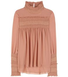 482cc5360cd2 SEE BY CHLOÉ Smocked Blouse.  seebychloé  cloth  tops Mode Femme, Blouses