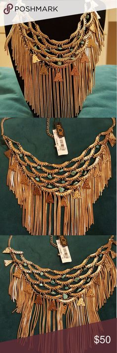 """🕌🕌   Gold & Turquoise Cleopatra Necklace 🕌🕌 💜Gorgeous🌍 workmanship🌍on this Egyptian style necklace. Still in the box from Neiman Marcus. Can be worn w/ plunging neckline or on top of garment. Adjustable from 18-21"""". NWT. SPECTACULAR PIECE!!!💜💜💜 nOir Jewelry Jewelry Necklaces"""