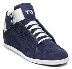 Adidas Y-3 Kazuhiri Navy Perforated Suede Sneaker