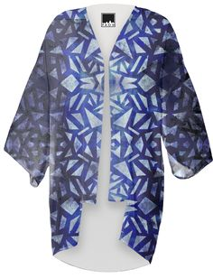 Ari's Blue Collage Kimono PAOM by Nina May Designs