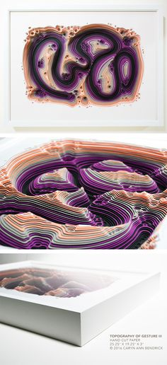 The fine paperworks of Caryn Ann Bendrick, an artist whose paper based works are tactile meditations on repetition and the dichotomy of destruction and creation. Modern Art, Contemporary Art, Papercutting, Paper Artist, Cut Paper, Art Object, Geography, Ann, Sculpture