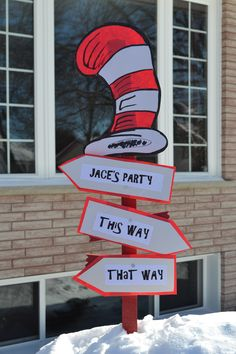 My Creation For Cat In The Hat Party Dr Seuss Birthday Third