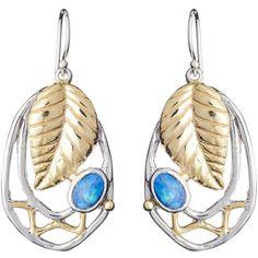 Women's Silver Earring by Gallardo and Blaine Designs Leaf Earrings (9.000 RUB) ❤ liked on Polyvore featuring jewelry, earrings, leaves earrings, earring jewelry, silver leaf earrings, leaf earrings and leaves jewelry