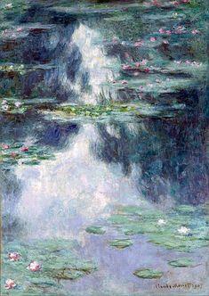 Claude Monet 'Water Lilies' Oil on Canvas Art Claude Monet, Monet Poster, Oil On Canvas, Canvas Art, Big Canvas, Canvas Prints, Google Art Project, Monet Paintings, Flower Paintings