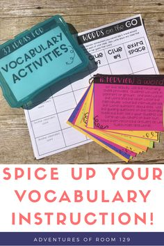 Spice up your vocabulary instruction with these 32 amazing ideas! Ready to print recording sheets included too!