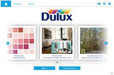 Dulux Paint Colour Visualizer allows the user to upload a photo and digitally paint a room or house to see what it would look like.