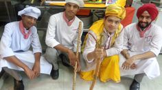students at Culinary academy of India wearing Punjabi costume for their theme-2016