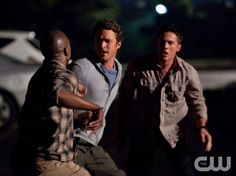 """""""Brave New World"""" - BJ Britt as Carter, Taylor Kinney as Mason, Michael Trevino as Tyler in THE VAMPIRE DIARIES on The CW.  Photo: Bob Mahoney/The CW  ©2010 The CW Network, LLC. All Rights Reserved."""