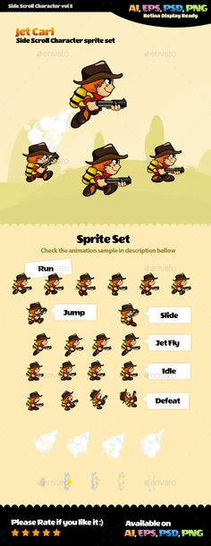 Side Scroll Character Vol 5 (Sprites)
