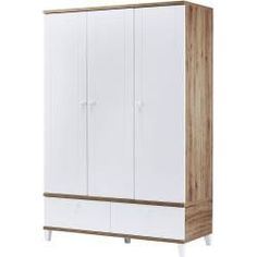 Reduced wardrobes & bedroom closets - Wardrobe Bellissima ¦ wood color ¦ Dimensions (cm): W: 131 H: 195 D: 54 Baby> baby furniture> bab - Living Room Art, Living Spaces, Masculine Bathroom, Wainscoting Bathroom, Home Furnishing Stores, Lounge Design, Blinds For Windows, Closet Bedroom, Wood Colors