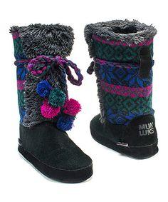 Another great find on #zulily! Black Jewel Slipper Boot - Women #zulilyfinds