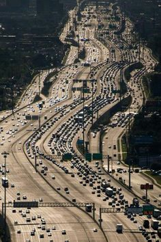 Katy Freeway (Interstate 10) Houston, Texas. It is the longest continuous untolled freeway under a single authority in North America.