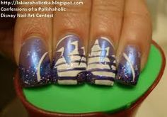 Disneyland Castle Nails..my cousin would like this.