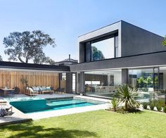 A modern rustic home renovation in Melbourne's bayside is part of Rustic home Architecture - The owners of lifestyle brand Satara have transformed their bayside Melbourne home into a rustic dream Take a look inside here Wooden Pool Deck, Newport House, House Construction Plan, Modern Rustic Homes, Melbourne House, Luxury Homes Dream Houses, Indoor Outdoor Living, Outdoor Spaces, Australian Homes