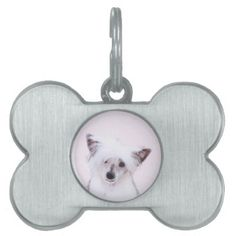 #Chinese Crested (Powderpuff) Pet Tag - #pettag #pettags #dogtag #dogtags #puppy #dog #dogs #pet #pets #cute #doggie