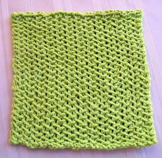 This Lime Slip Stitch Dishcloth knitting pattern is so bright, it will add a sunny patch of color to your kitchen. In addition to a fabulous color, this free knitting pattern also has a wonderful herringbone stitch texture that will hold up with use. Potholder Patterns, Dishcloth Knitting Patterns, Crochet Dishcloths, Knit Or Crochet, Loom Knitting, Knitting Stitches, Free Knitting, Stitch Patterns, Crochet Patterns