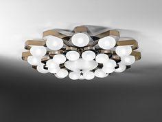 Italamp Plafoniera Teo 28 luci Ø 140 cm dimmerabile Metal Ceiling, Ceiling Lamp, Ceiling Lights, Room Lights, Pendant Lamp, Pendant Lighting, Ceiling Light Design, Unique Lighting, Lighting Design