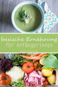 Was ist basische Ernährung?+ Rezept für den Säure-Basen-Haushalt Here you will learn how basic nutrition works properly and how to achieve a balanced acid-base balance. Healthy foods and anti-acidity recipes in the body. Acid Base Balance, Vegetarian Recipes, Healthy Recipes, Fat Burning Foods, Detox Recipes, Detox Foods, Smoothie Recipes, Best Diets, Health And Nutrition