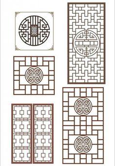 中式窗棂 窗花图片