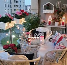 Идеи для места отдыха на балконе
