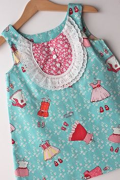 Such a pretty little dress made from Sarah Jane prints