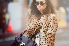 Brown leopard coat