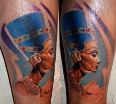 Nefertiti and pyramid, done by MarkoTattoo @ Belgrade