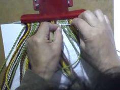 Como hacer tira, gasa, fajon wayuu 24 cordones - YouTube