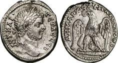 NumisBids: Numismatica Varesi s.a.s. Auction 65, Lot 214 : GETA, Cesare (198-209) Tetradramma, Fenicia, Tiro. D/ Testa...