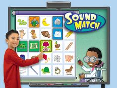 With Lakeshore's Sound Match Interactive Game, kids join a brainy kid scientist in her sound-matching lab—for fun, hands-on practice with 150 beginning & ending sounds!