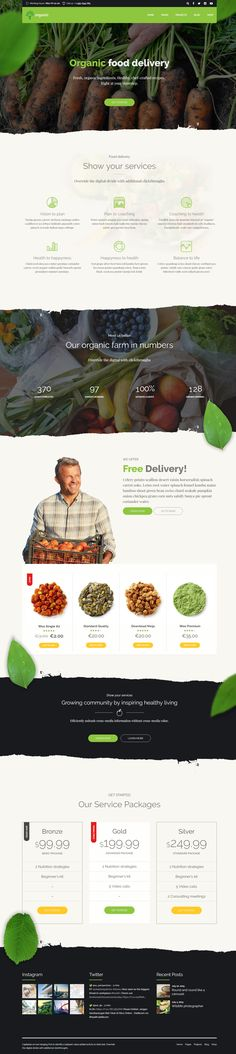 Organic Food is a WordPress theme exclusively built for nutritionist, health coach, cooking school, delivery and farm websites. It is fully responsive, retina ready and easy to customize.