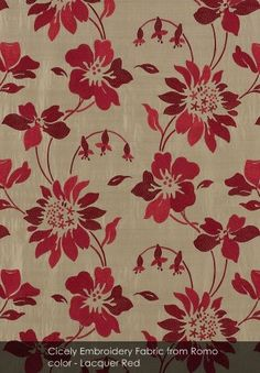 Cicely Embroidery Fabric from Romo - patternsnap loves... January