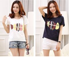 TC000182 Large yard printing shirts Korean style T-shirt for women