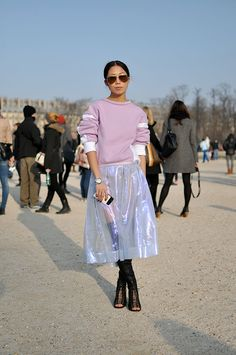 metallic + transparent skirt