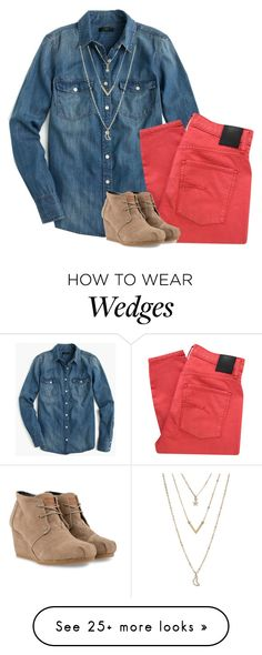 """""""I love you like you never felt the pain"""" by sweettoothegj on Polyvore featuring mode, J.Crew, Nobody Denim, TOMS et Aéropostale"""