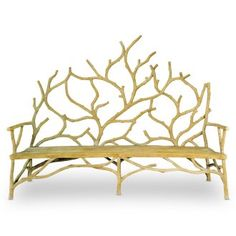 "Concrete ""branch"" bench."