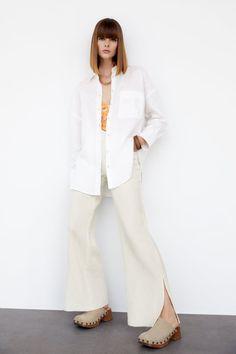 LINEN SHIRT | ZARA United States Zara United States, Duster Coat, Buttons, Long Sleeve, Sleeves, Pants, Jackets, Shirts, Canada