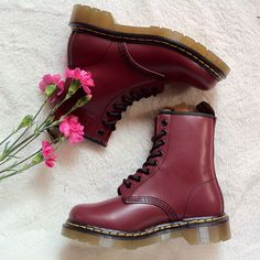 Dr Martens 1460  Cherry Red Smooth Size:UK3-UK10 ,EU36-EU45/46 Email:wangxia11073@hotmail.com Dr Martens 1460, Dr. Martens, Cherry Red, Red Green, Combat Boots, Smooth, Navy, Shoes, Black